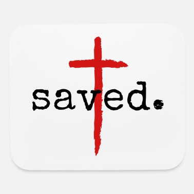 Clothing Saved Christian Cross Design - Mouse Pad