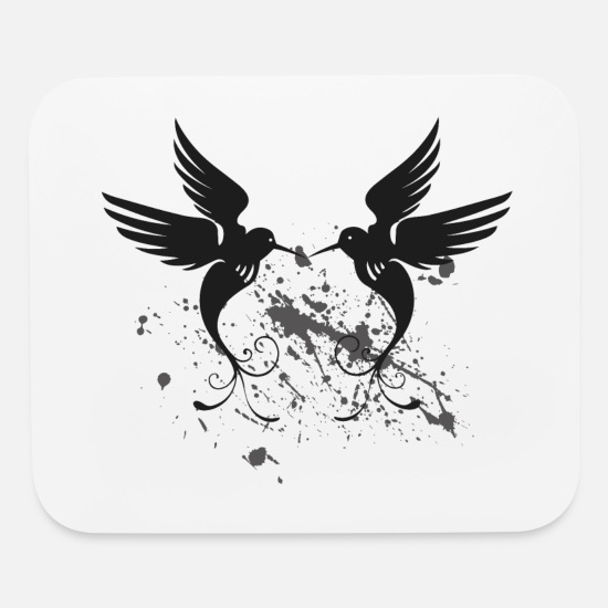 Fly Mouse Pads - bird - Mouse Pad white