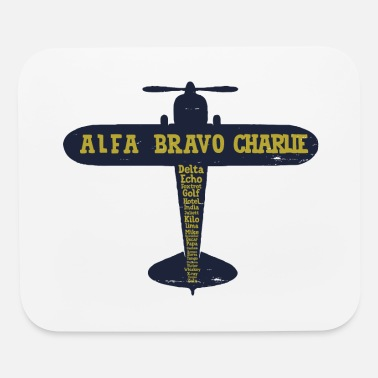 Aviation International Phonetic Alphabet Airplane - Mouse Pad