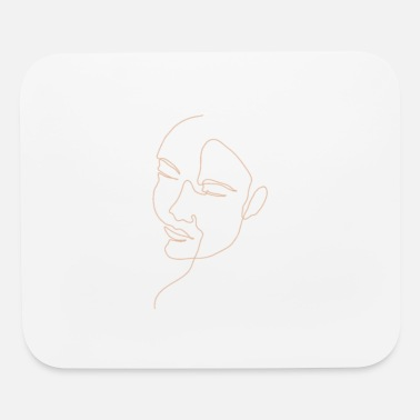 Gay Girl line art design - Mouse Pad