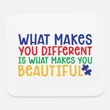 Typography Inspirational Quote With Autism Awareness Colors - Mouse Pad