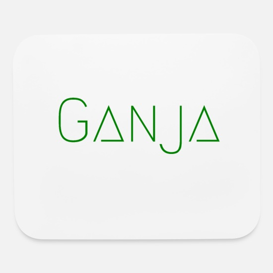 Ganja Mouse Pads - Ganja Green - Mouse Pad white