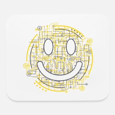Positively Electric Smiley Face - Mouse pad Horizontal