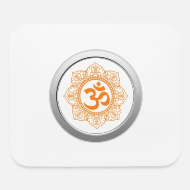 Divine Om Symbol for peace meditation yoga - Mouse Pad
