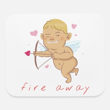 Fire Away | Valentine's Day Cupid - Mouse Pad