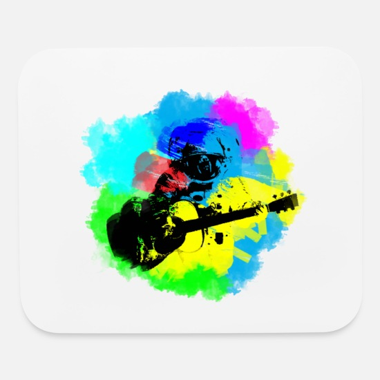 Astronaut Mouse Pads - Astronaut Guitar Jams | Art & Science - Mouse Pad white