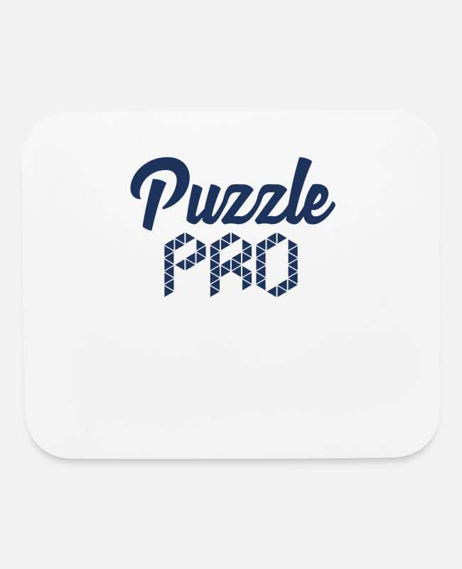 Puzzle Hobby Mouse Pads - Puzzling Puzzler Puzzle Game Hobby Puzzle - Mouse Pad white