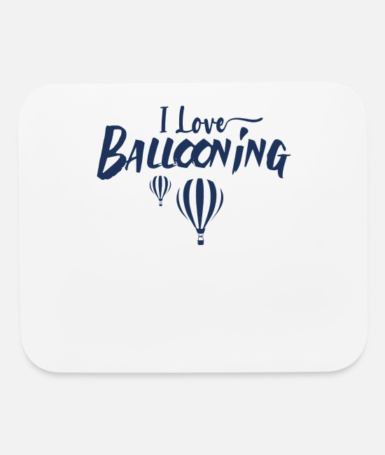 Fly Mouse Pads - Ballooning Flying Hot Air Balloon Pilot Balloons - Mouse Pad white