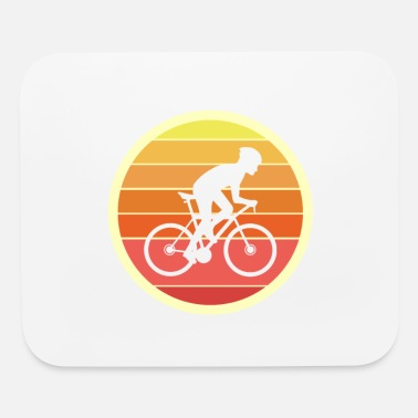 Cyclist Bicycle Sunrise - Mouse Pad