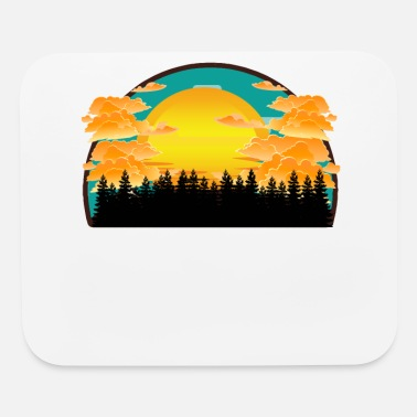 Moon Star Wood Sunset - Mouse Pad