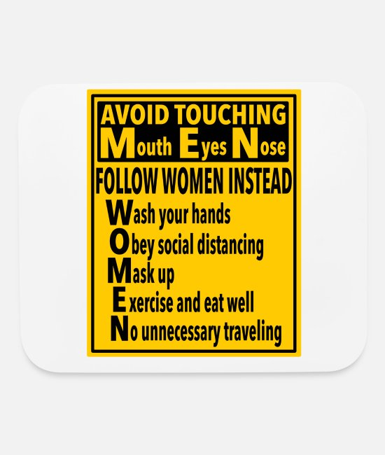 Witching Hour Mouse Pads - sign Men Women covid - Mouse Pad white