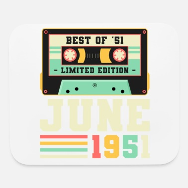 70th 70th Birthday June Gift Vintage 1951 70 Years - Mouse Pad