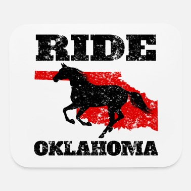 Dude Ride Oklahoma - Gift for Horse Lovers & Riders - Mouse Pad