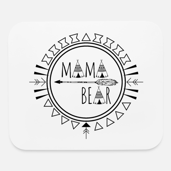 Mummy Mouse Pads - Mama Bear - Mouse Pad white