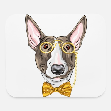Monocle Dog with monocle - Mouse Pad