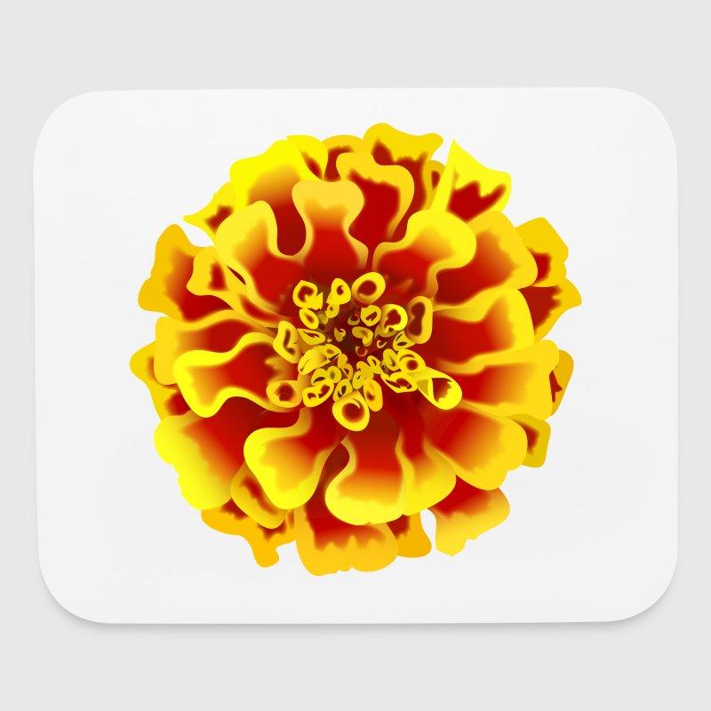 Marigold flower by tinastees spreadshirt marigold flower mouse pad horizontal mightylinksfo