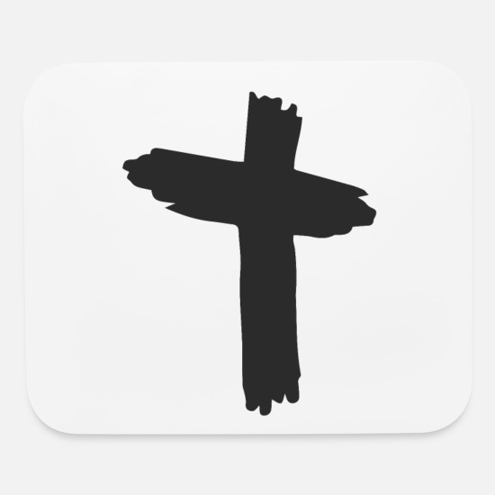 Christianity Mouse Pads - Jesus Christian Cross Christianity Christ Gift - Mouse Pad white