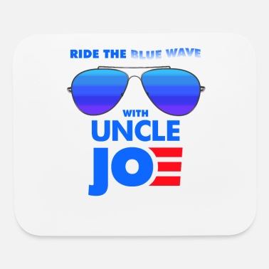 Womens Ride the Blue Wave with Uncle Joe Biden - Mouse Pad