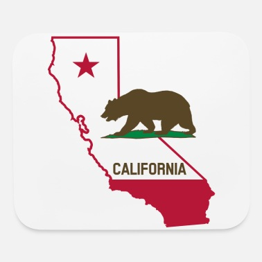 State CALIFORNIA STATE WITH STATE BEAR - Mouse Pad