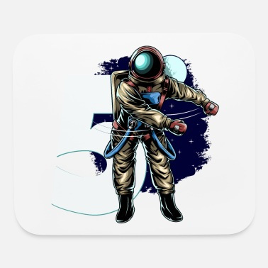 5th Birthday Boy Flossing Astronaut Five Years - Mouse Pad