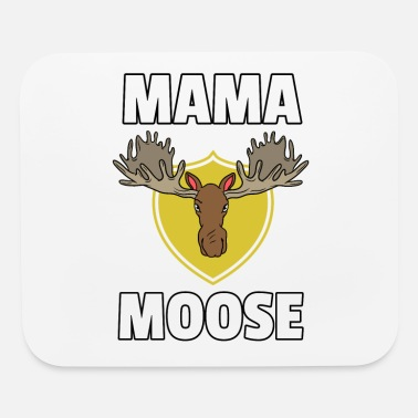 Mothers Day Mooses Elk Lovers Funny Cute Wood Animals Gift - Mouse Pad