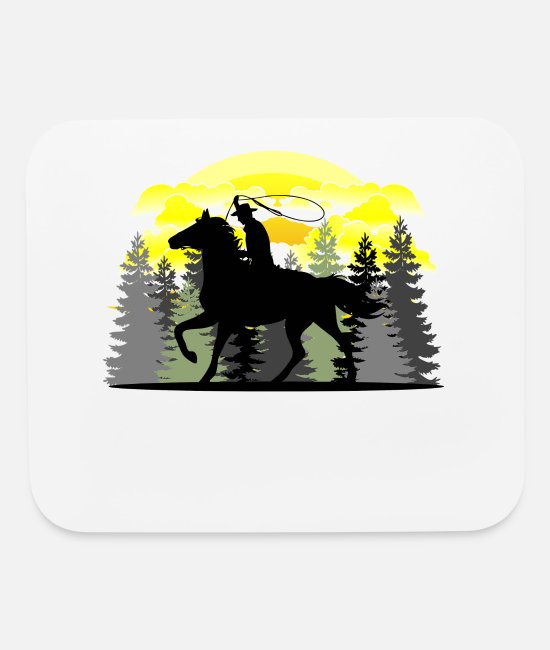 Riding Mouse Pads - Western Riding, Western - Mouse Pad white