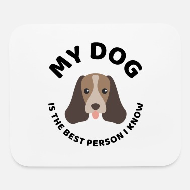 Dog Head The best person dog owner quote present - Mouse Pad
