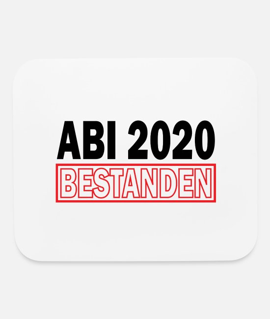 Matura Exam Mouse Pads - Abi 2020 graduation from Abitur gift - Mouse Pad white