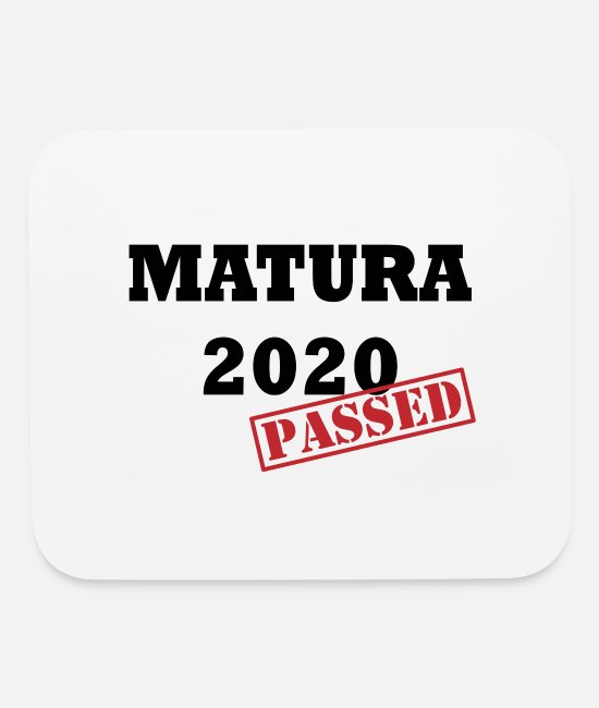 Matura Exam Mouse Pads - Matura graduation 2020 school gift - Mouse Pad white