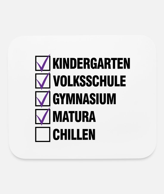 Matura Exam Mouse Pads - Matura checklist fun graduation gift - Mouse Pad white