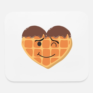 Waffle Waffles Love - Waffles,Waffles,Waffles - chocolate - Mouse Pad