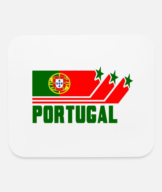 Angola Mouse Pads - Portugal Design with Flag - Mouse Pad white