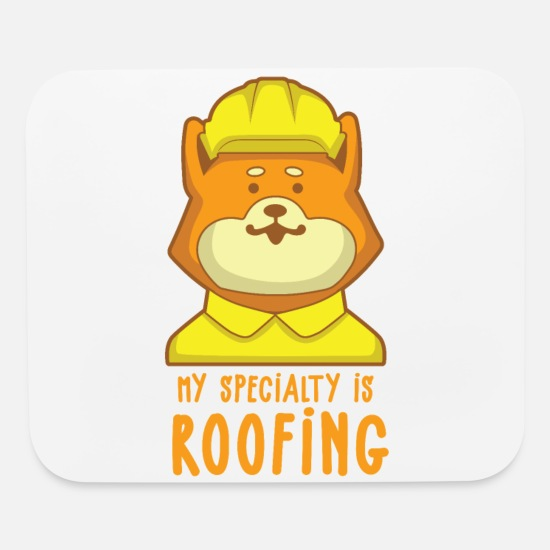 Ninja Mouse Pads - Roofer My Speciality is Roofing I Slater & Roofer - Mouse Pad white