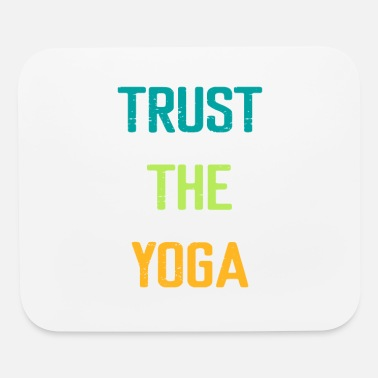 Om Trust The Yoga - Yoga Workout Van Beach - Mouse Pad