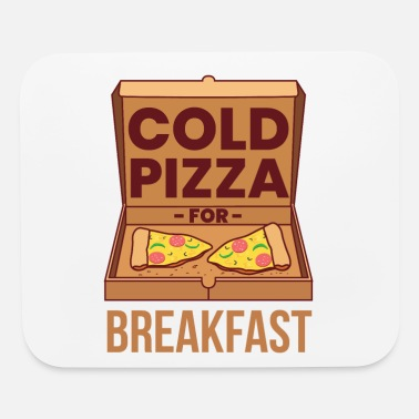 Slice Cold Pizza For Breakfast Pepperoni Slice - Mouse Pad