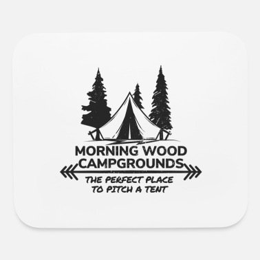 Campground Morning Wood Campground Is Pefect To Pitch A Tent - Mouse Pad