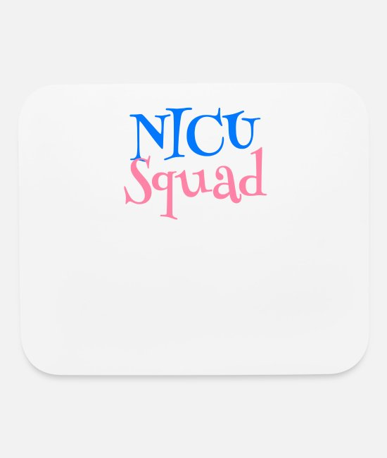 Mummy Mouse Pads - NICU Squad Baby Foot Print - Mouse Pad white