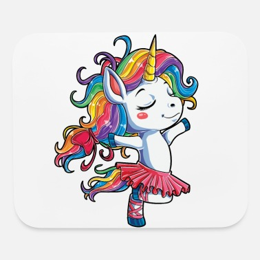 Unicorn Ballet Dancer Unicorn T shirt Kids Girls Rainbow Ballerina Gifts Party Men Women - Mouse Pad