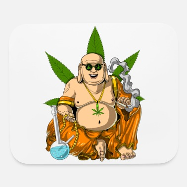 Weed Buddha Smoking Weed - Mouse Pad