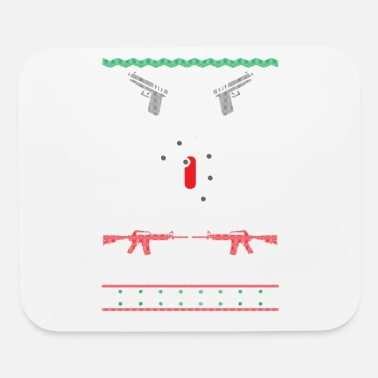 Ugly Christmas AR15 Gun Point Ugly Christmas Sweater Present Gift - Mouse Pad