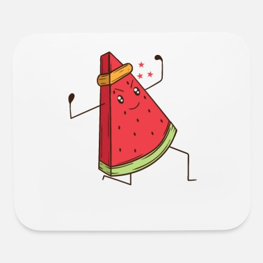 Karate Watermelon does martial arts Karate - Mouse Pad