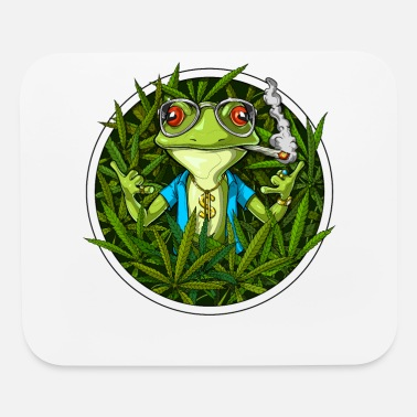 Weed Frog Smoking Weed - Mouse Pad