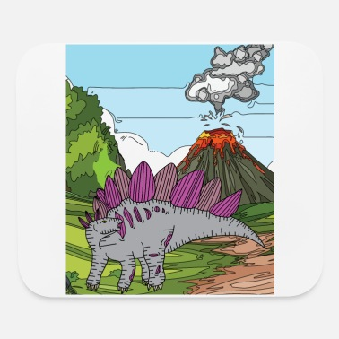Explosion Time Dino Volcano Eruption Nature - Mouse Pad