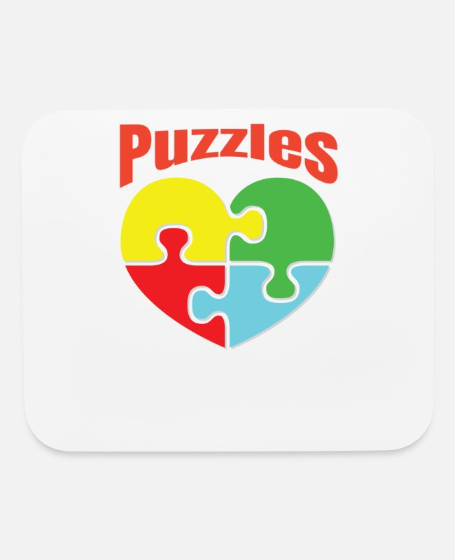 Logbook Mouse Pads - Puzzle Lover - Mouse Pad white
