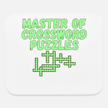 Puzzler Master of Crossword Puzzles Gift Puzzler Gift - Mouse Pad