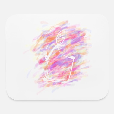 Motion old Stickman - Mouse Pad