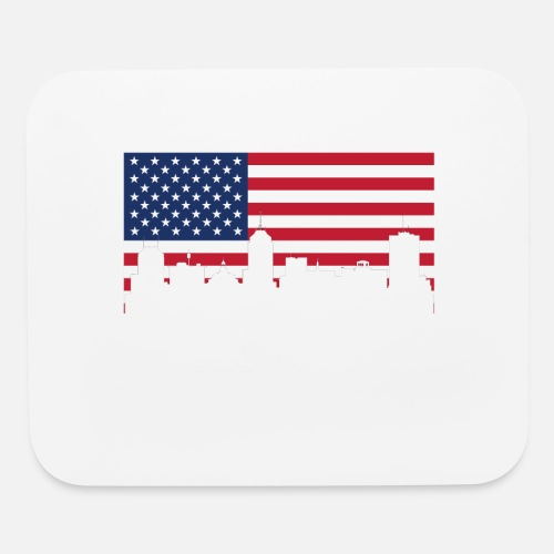 American Flag Fresno Skyline By Awesome Gifts Spreadshirt