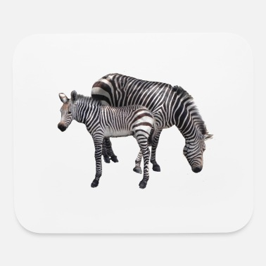Momma and Baby Zebra - Mouse Pad