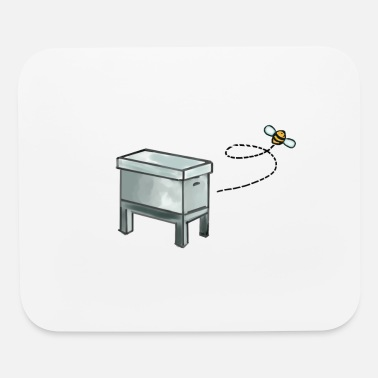 Beekeeper's Beehive with Bee - Mouse Pad