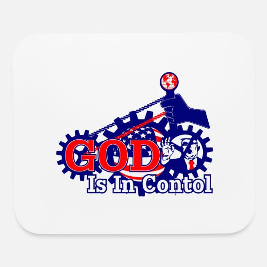 Controller Mouse Pads - GOD IS IN CONTROL - Mouse Pad white
